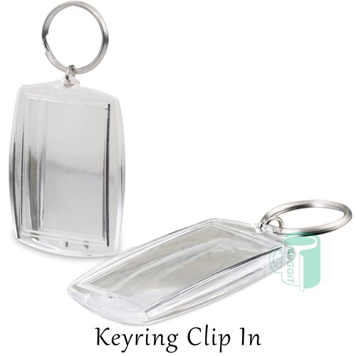 Plastic: Keyring Clip in 10